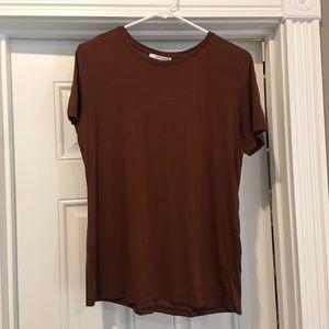 NWT rust/brown Zara tee